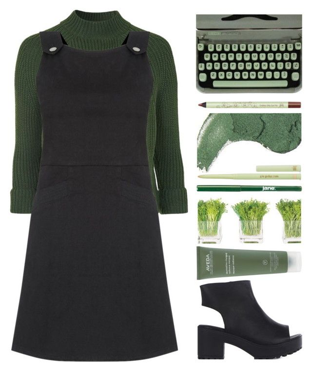 """Juniper"" by hevsyblue2 ❤ liked on Polyvore featuring Topshop, Oasis, Aveda, Hermès, jane, Pixi, NDI, denim, GREEN and polyvoreeditorial"