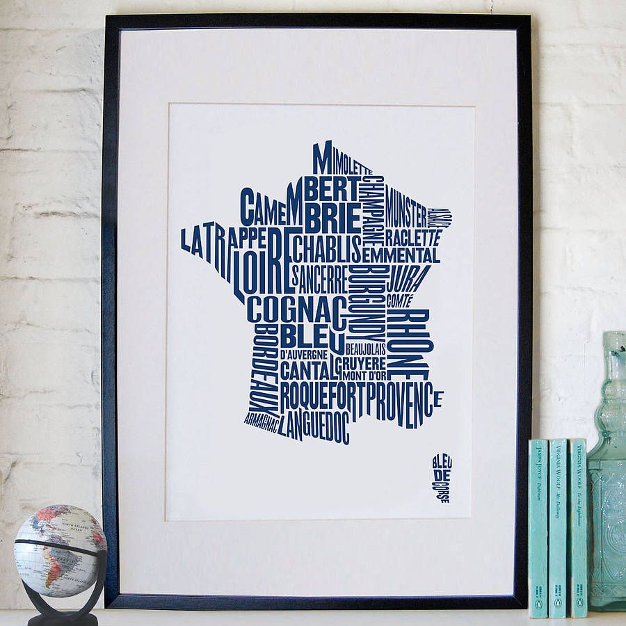 Wine and cheese map of France by region Maps