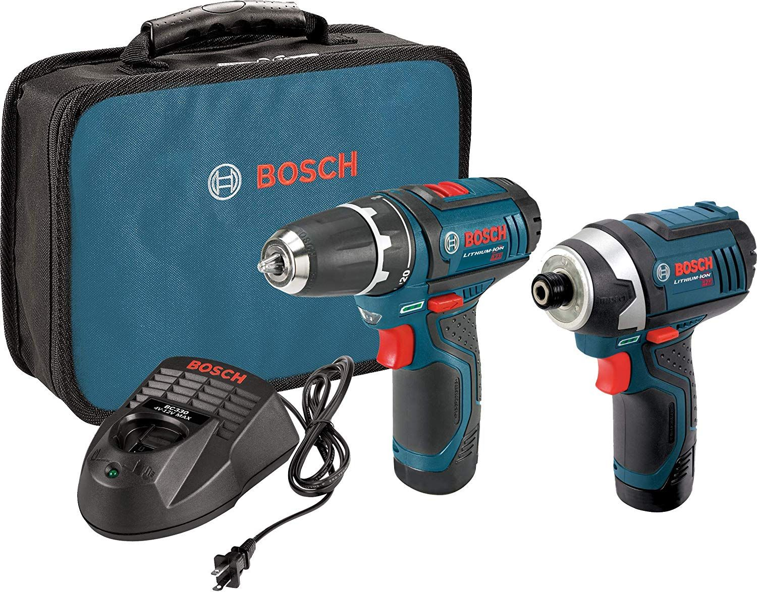 Bosch Power Tools Combo Kit Clpk22 120 12 Volt Cordless Tool Set Drill Driver And Impact Driver With 2 Batteries Charger And Case In 2020 Combo Kit Impact Driver Bosch