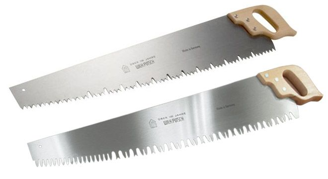 """Our premium quality 35"""" one man (or woman) crosscut saws are made in Germany by Wilhelm Putsch, feature two toothing patterns, and the option for hand sharpened teeth."""