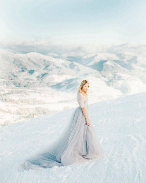 Non Traditional Wedding Dresses With Color: Tulle Wedding Dress