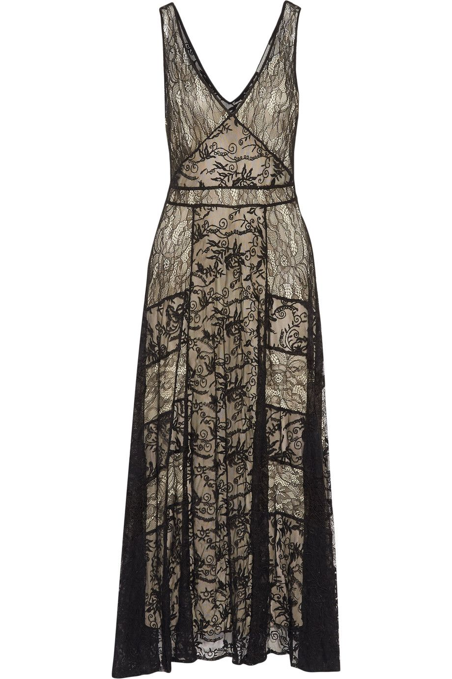 Alice and olivia phyllis pleated lace maxi dress aliceandolivia