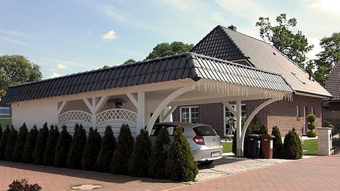 Top Holz Carport Weiss Flachdach | wohnen | Pinterest | Holz Carports  HO21