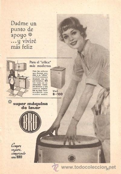 Publicidad de lavadora bru anuncio electrodom sticos - Electrodomesticos retro ...