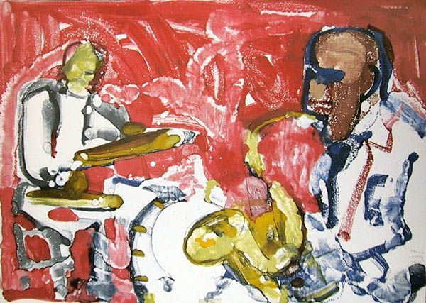 Romare Bearden Out Chorus Rhythm Section Romare Bearden Art Art Commerce