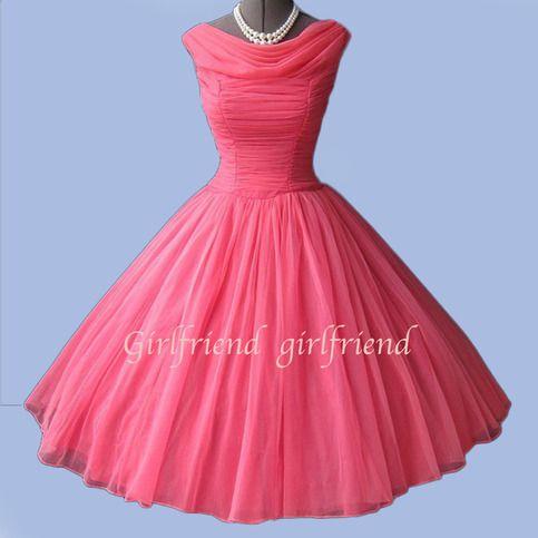 chiffon mini sweetheart custom dress vintage