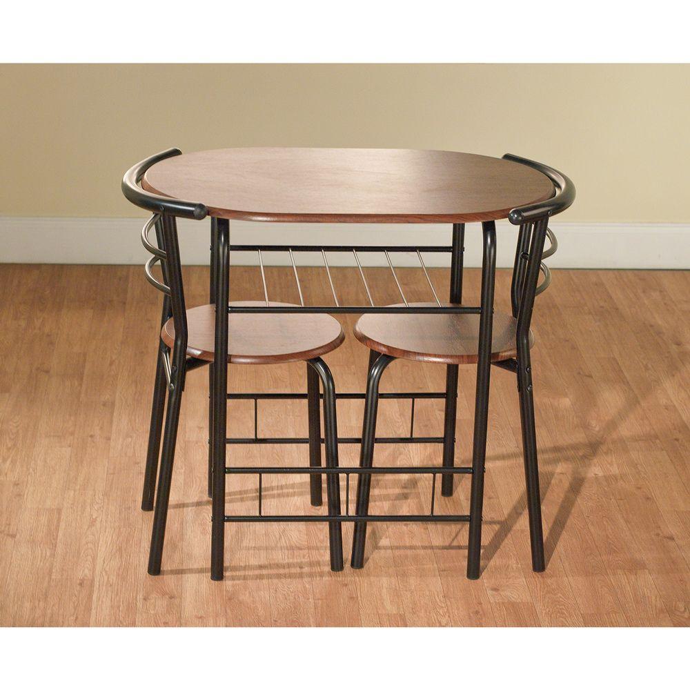 3 Piece Bistro Kitchen Furniture Set Table w/ Chairs Slim Sleek Espresso Black  sc 1 st  Pinterest & Simple Living Honeymoon Table Set (3Pc) | Overstock™ Shopping - Big ...