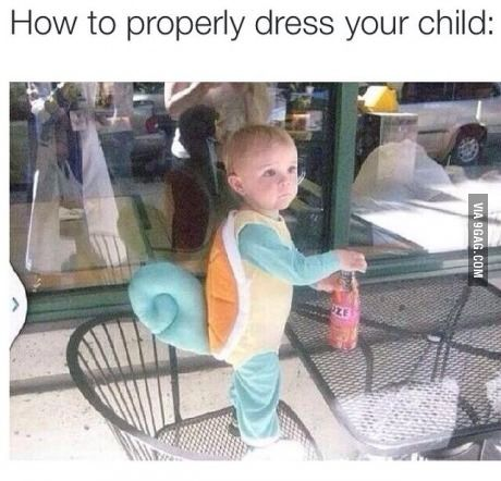 Squirtle child cosplay
