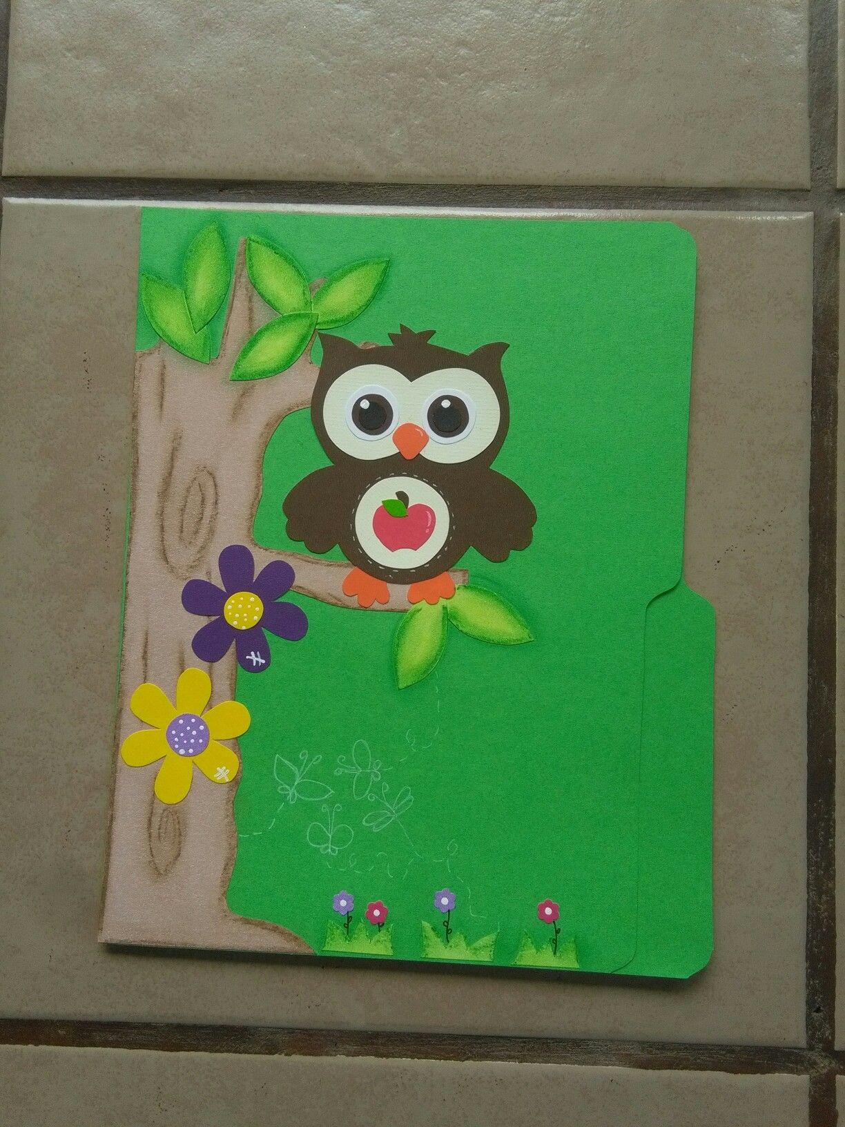 Folder decorado