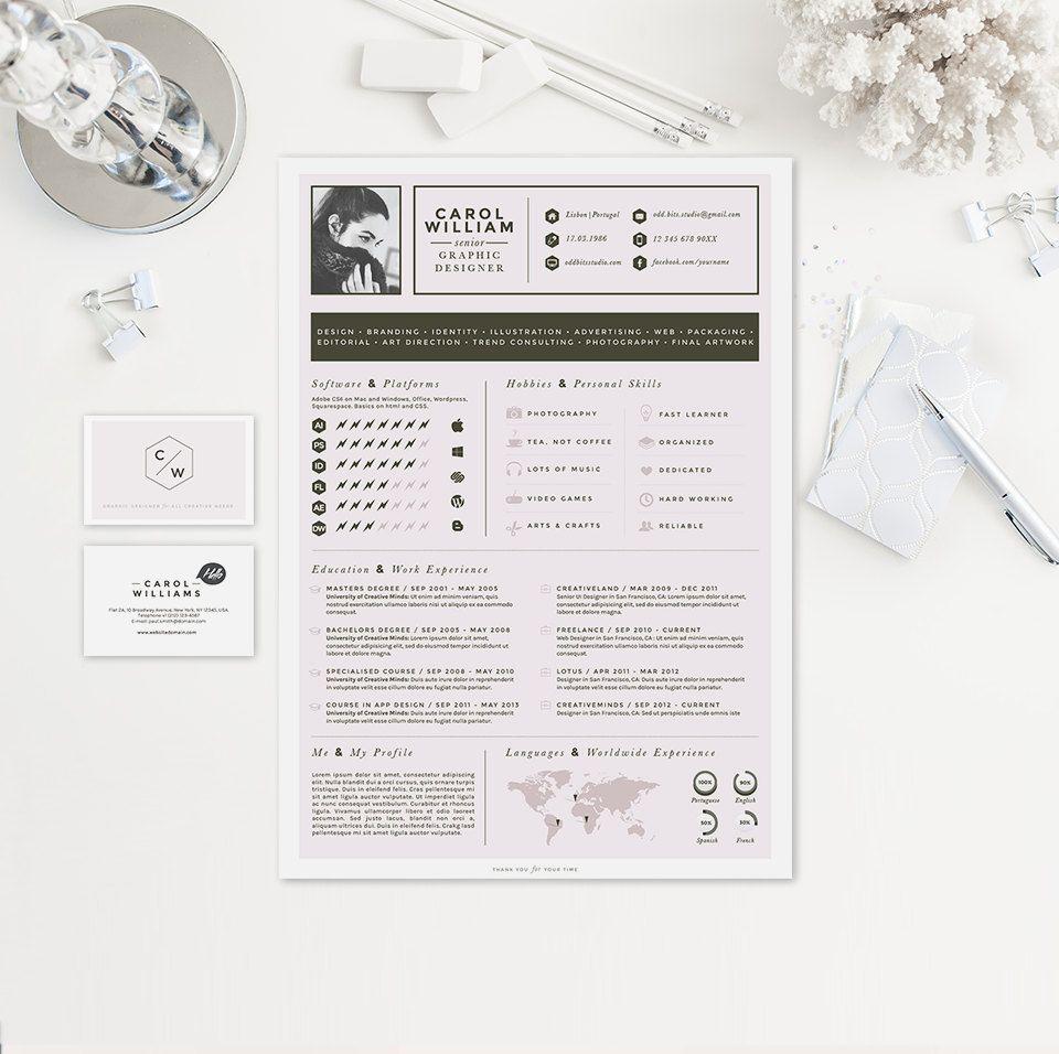 Resume CV Design Cover Letter Business Card par ...