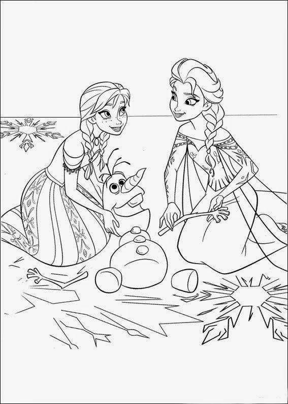 desenho frozen imprimir e pintar 02 jpg 567 794 colorir pinterest