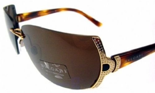 e2359190fd6f BVLGARI 649B SUNGLASSES TORTOISE NEW VINTAGE SWAROVSKI CRYSTAL CASE NEW  BROWN  BVLGARI