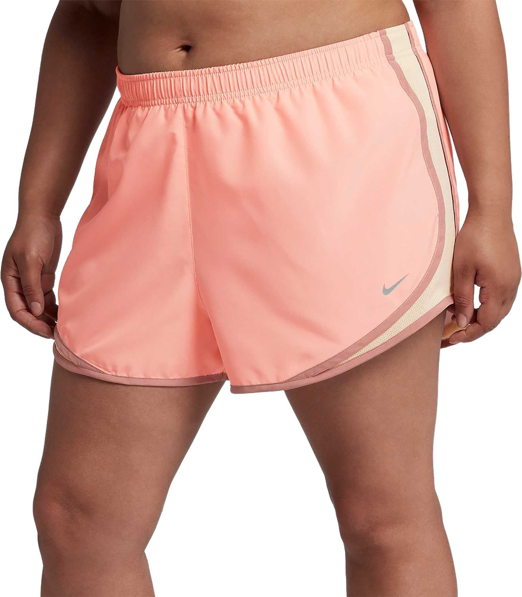 463004504407a Nike Women's Plus Size Dry 3'' Tempo Running Shorts, Size: 3XL, Pink