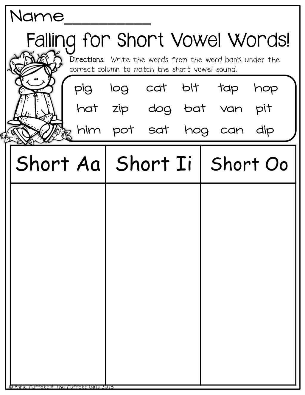 Short Vowel Word Sort