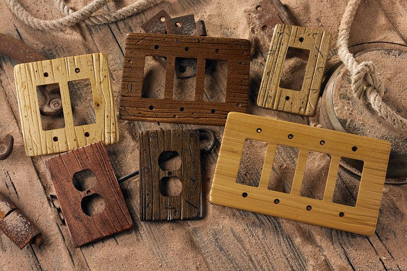 Buckboard Style Rustic Wood Switch Plates In Various Colors These