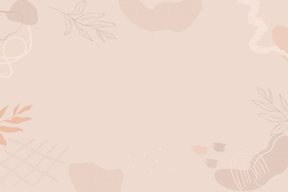 Download Premium Vector Of Beige Botanical Patterned Background Vector Powerpoint Background Design Simple Background Images Background Design