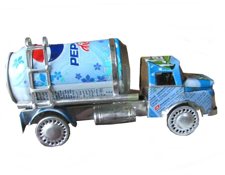 Recycled metal truck recycling pinterest kid trucks for Make something out of recycled materials