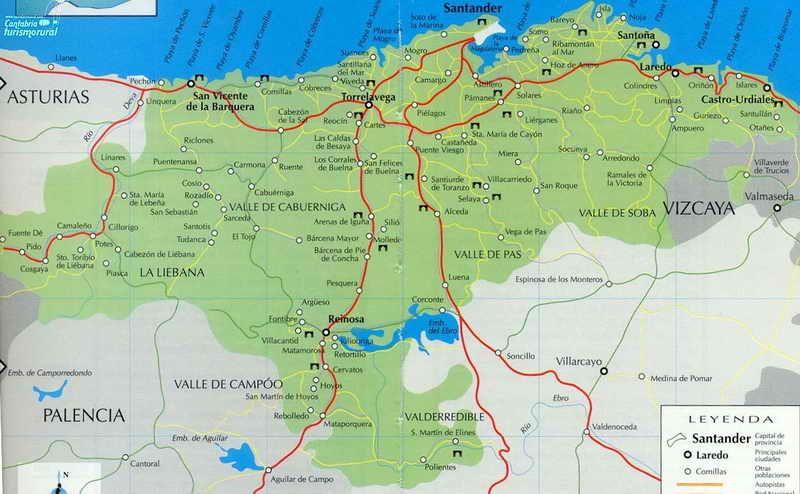 Cantabria Mapa Mapa De Las Comarcas De Cantabria Mapa De Cantabria Mapas Imágenes De Mapas
