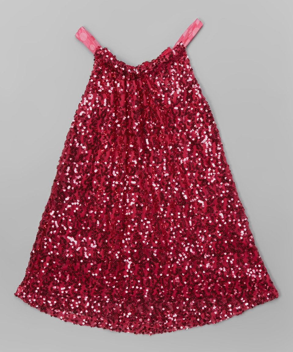 eb4b6720 Lipstik Girls Red Sequin Swing Dress - Toddler & Girls by Lipstik Girls # zulily #zulilyfinds
