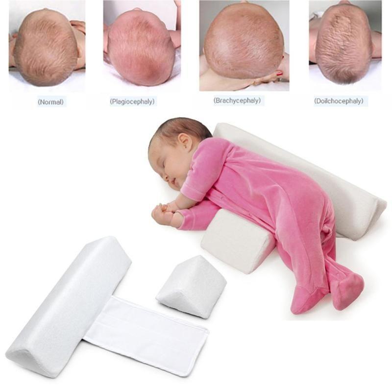 Infant Baby Nursing Cushion Anti Roll Prevent Flat Head Cushion Sleep Pillow US