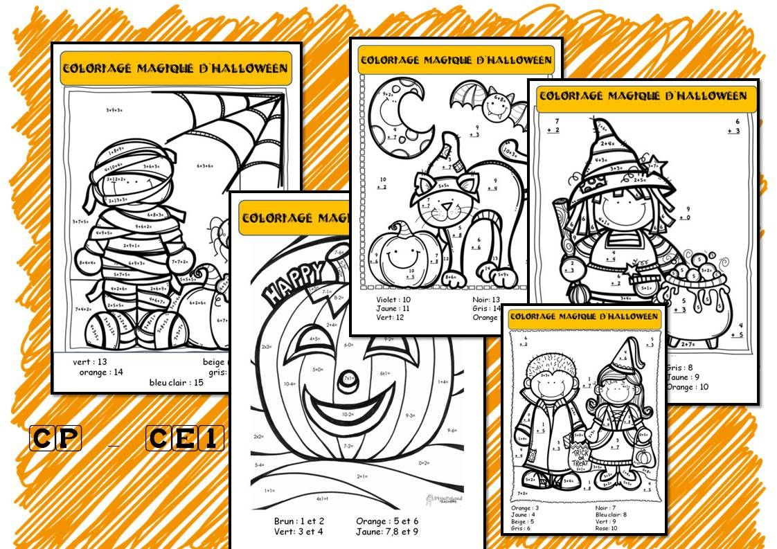 Coloriages magiques d 39 halloween halloween halloween - Coloriage calcul ce1 ...