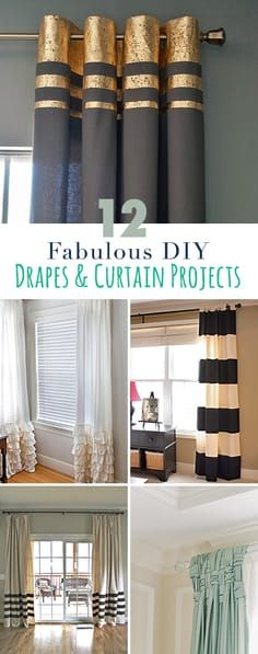 12 Projects for Fabulous DIY Curtains  Drapes DIYCrafts