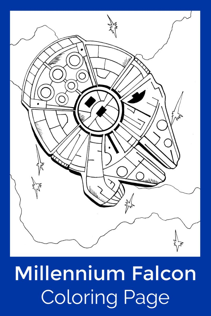 Free Printable Millennium Falcon Coloring Page in 2020