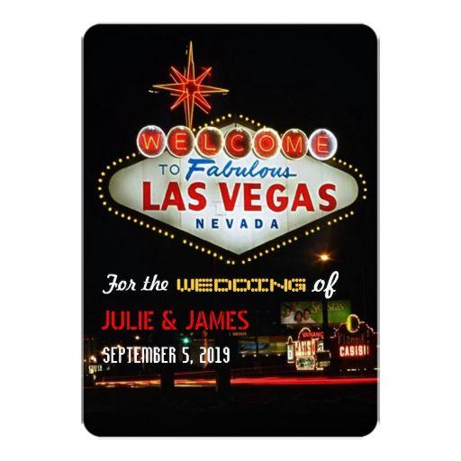 Unique Las Vegas Wedding Formal Invitation Las vegas weddings and - formal invitation style