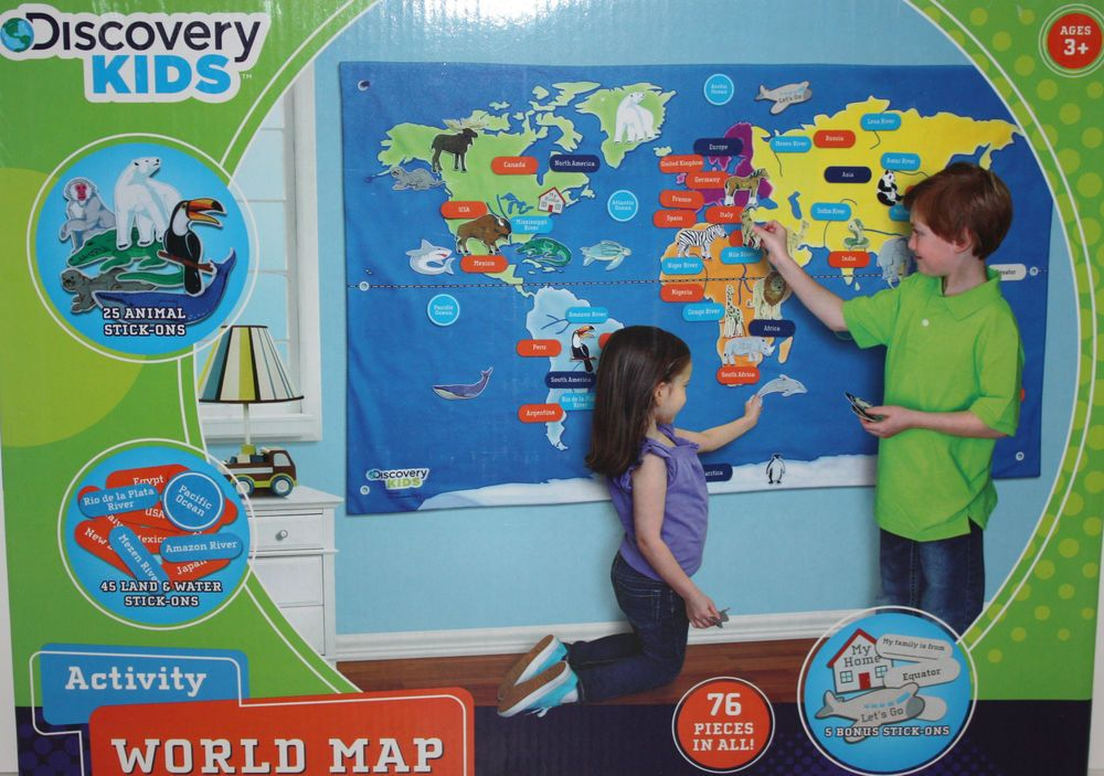 Daughters bedroom discovery kids fabric activity world map 25 daughters bedroom discovery kids fabric activity world map 25 animal 45 land water sticks ons multicolor 10 gumiabroncs Images