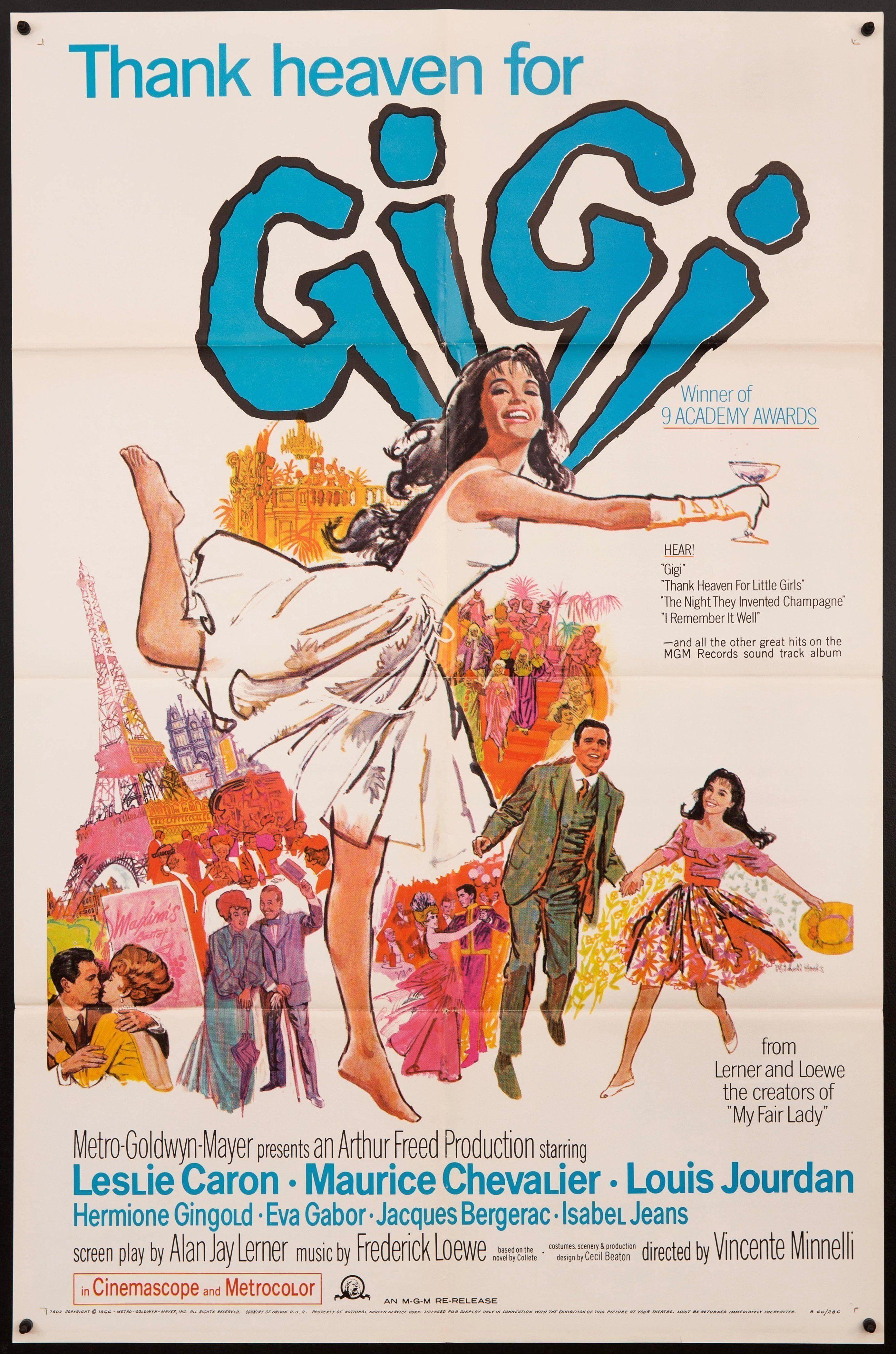 Gigi vintage movie poster 1 sheet 27x41 original film