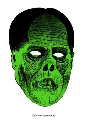 Maschere dell 39 horror paurose da stampare e ritagliare for Maschere stampabili