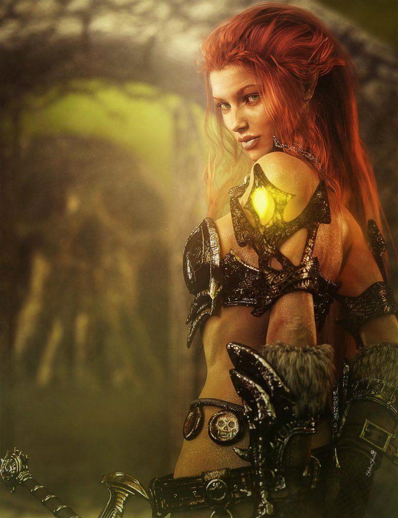 Redhead warrior woman image — pic 3