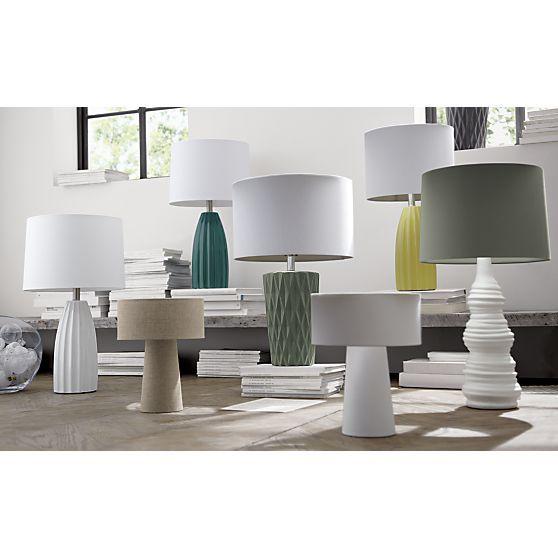 Ella Yellow Ceramic Table Lamp White Table Lamp Lamp Desk Lamps Living Room