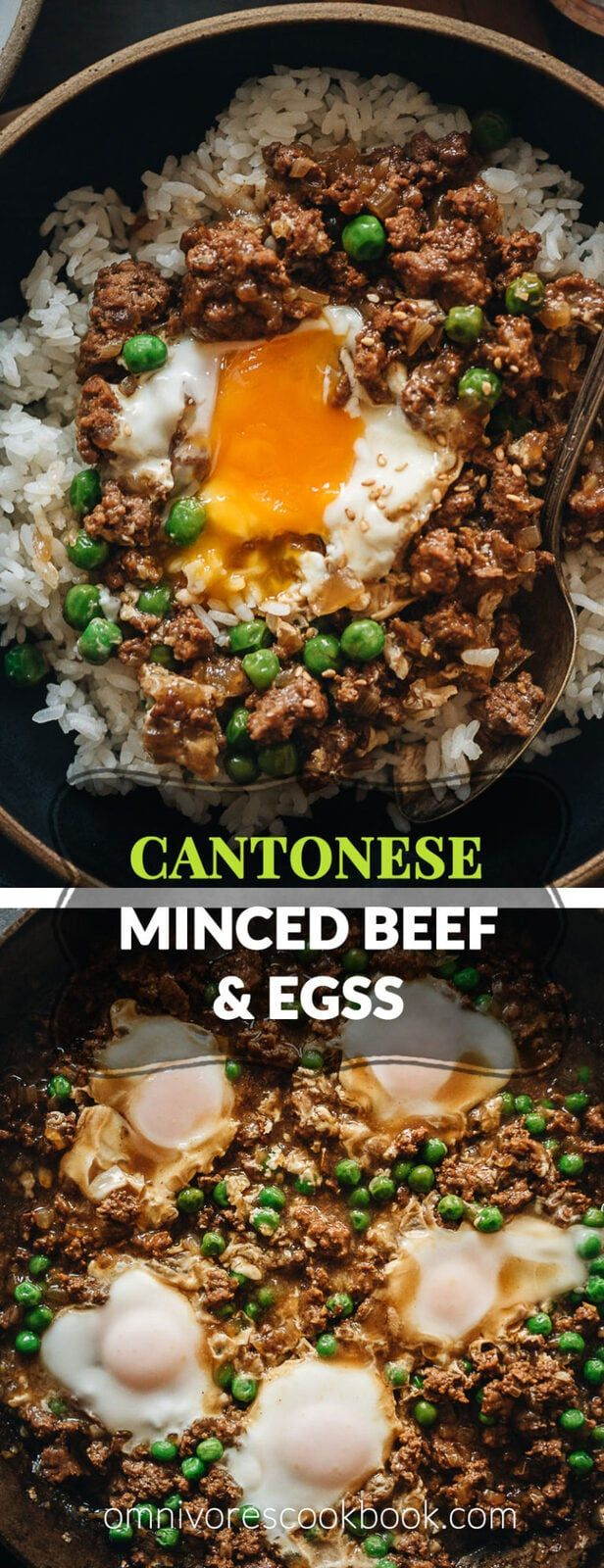 Cantonese Ground Beef Rice And Eggs A Super Easy Cantonese Minced Beef Bowl Cooked With An Oyster Ground Beef Rice Beef Recipes Easy Minced Beef Recipes Easy