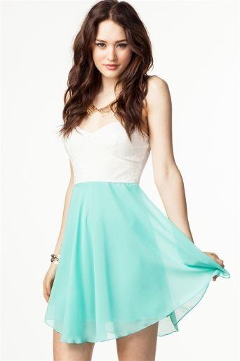 Lace Chiffon Skater Dress