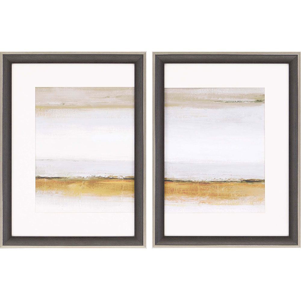 Contemporary Diptych Features Specialty Matting In White With A Dark Wood Finish Frame With A Silver Edge Frames On Wall Framed Wall Art Sets Painting Frames