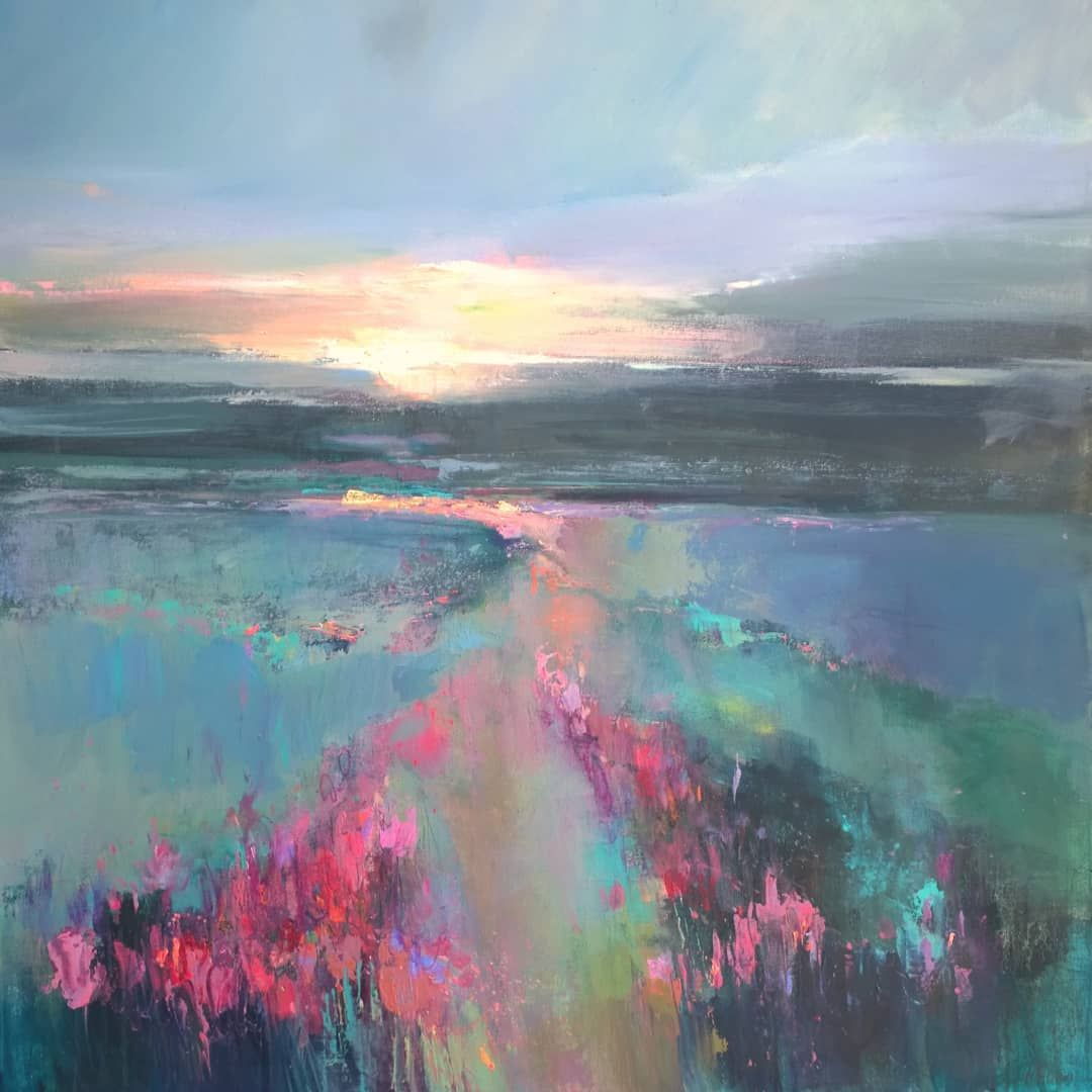 Crocus Sunrise 100 X 100cm I Was So Excited To Paint This Piece