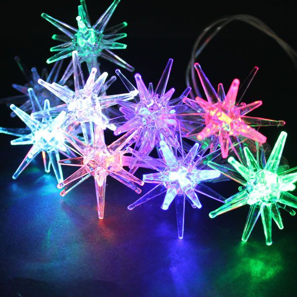 Christmas Star Lights Outdoor Multicolor Led Star String Light Lamp Outdoor Fairy Xmas Garden