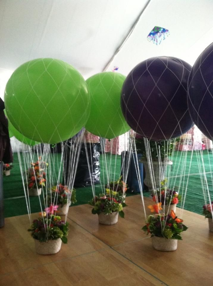 Balloon Centerpiece Net : Hot air balloon party at stepping stones children s museum