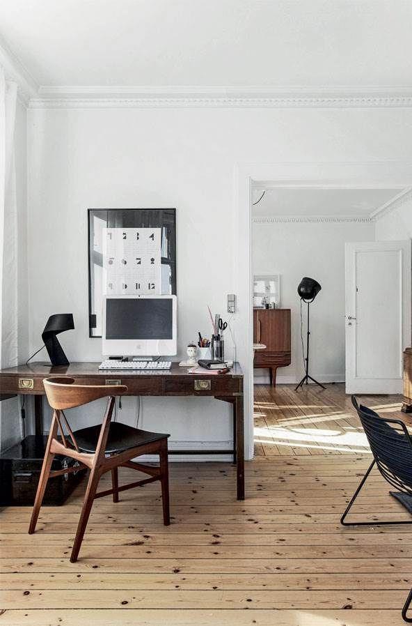 Bright Danish Apartment With Mid Century Modern Furniture Design