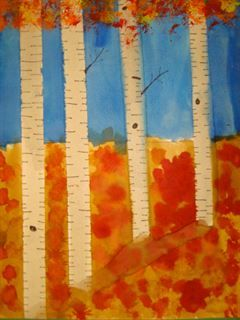 Artsonia Art Gallery - 4th Grade Birch Trees