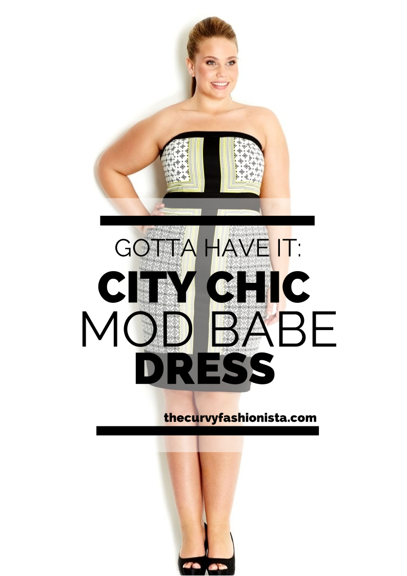 Gotta Have It: This Mod Babe Dress by City Chic #gottahaveit