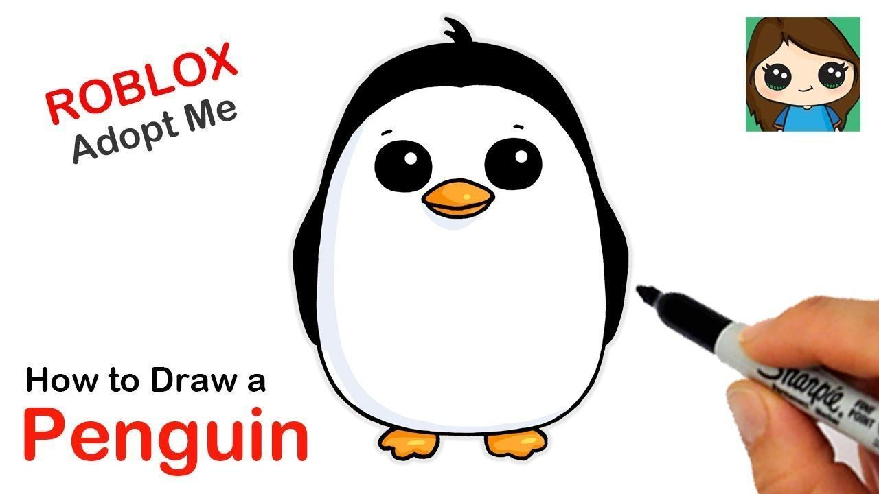 How To Draw A Penguin Roblox Adopt Me Pet Prismacolor Drawing Art