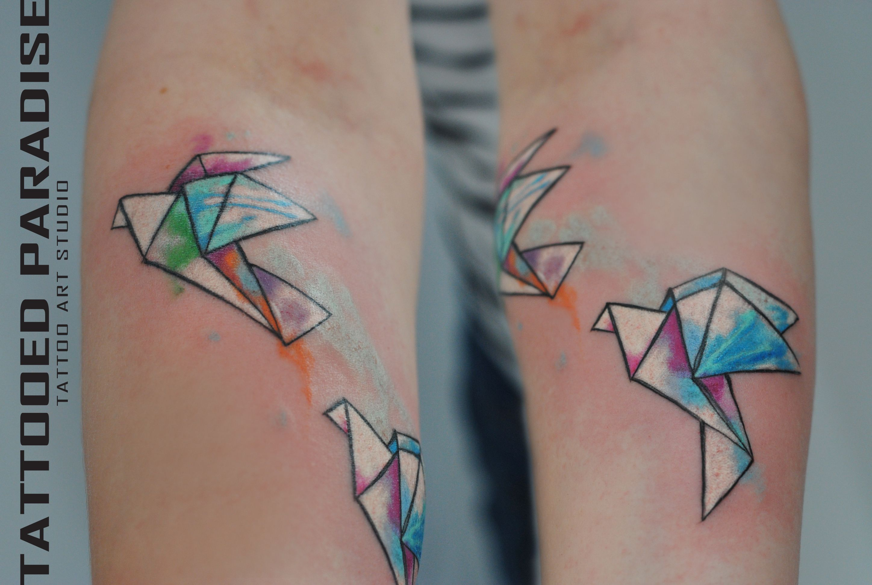 Origami watercolor tattoo | Tattoo artist: Aleksandra ... - photo#17