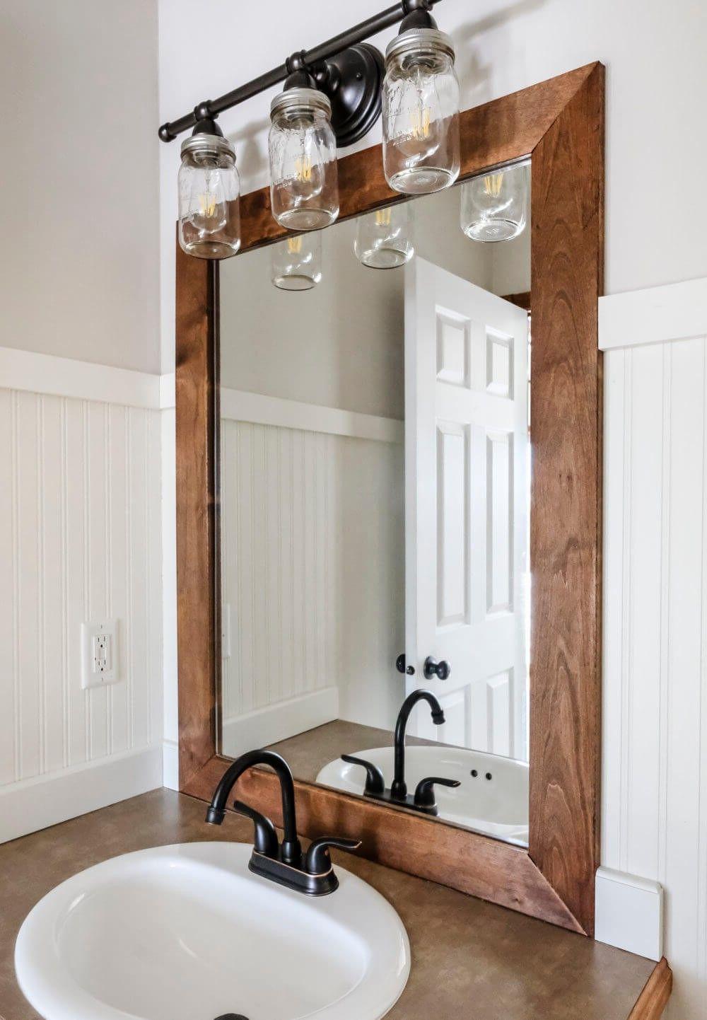 Fabriquer Un Miroir Industriel A Partir De Zero Avec Notre Tutoriel Facile Deco Diy Zenidees En 2020 Salle De Bain Design Miroir Salle De Bain Decoration Salle De Bain