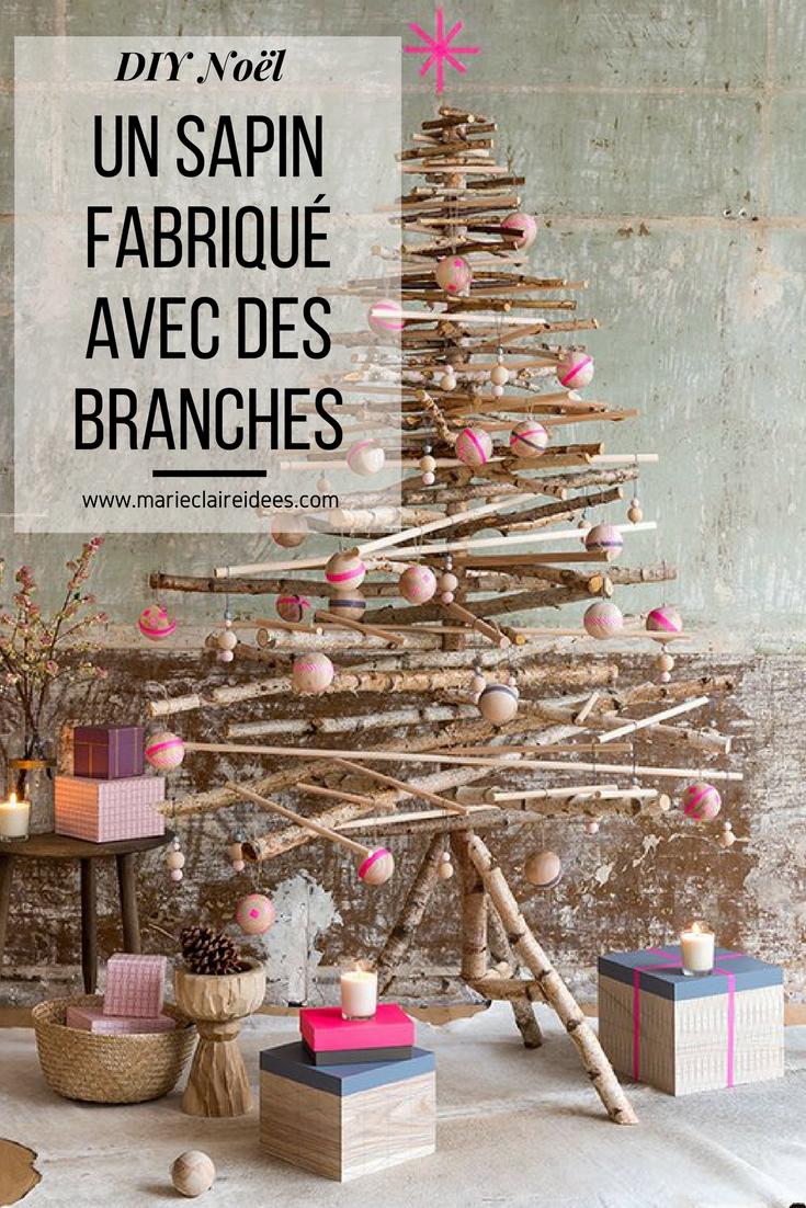 Construire Un Sapin En Branches De Bouleau Christmas Christmas