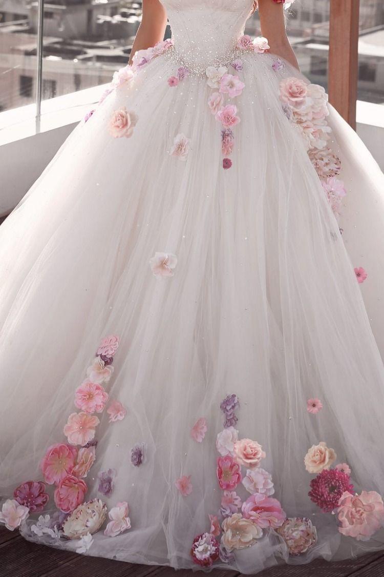 Stunning Uniq Embellished Strapless A-Lane Princess Wedding Dress