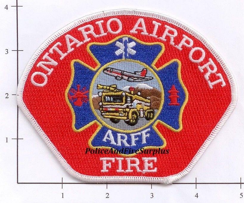 Ontario Airport Fire Department ARFF Patch California CA