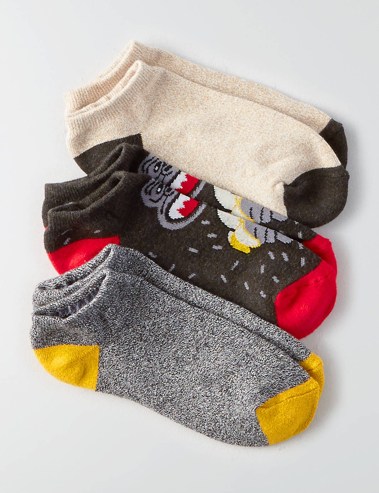 Display product reviews for AE Low Cut Monkey Socks 3-Pack