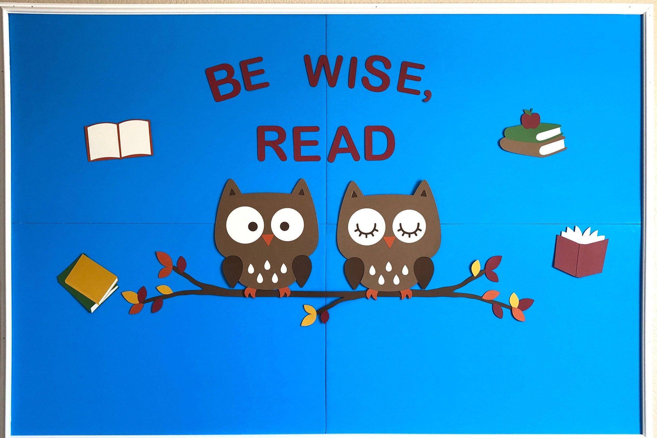 Items similar to Fall Bulletin Board Set, Fall Bulletin Board Decorations, Classroom Bulletin Board Set, Reading Bulletin Board Set, Owl Bulletin Board Set on Etsy